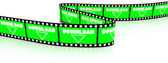 Film zigzag with word download — Stock Photo