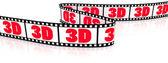Film zigzag with word 3D — Stock Photo