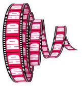 HD film Segment rolled forward — Stock Photo