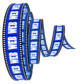 Web film Segment rolled forward — Stock Photo