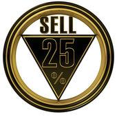 Gold metal Twenty Five Percent — Stock Photo