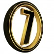 Stock Photo: Gold Black Font Letter seven