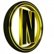Stock Photo: Gold Black Font Letter n