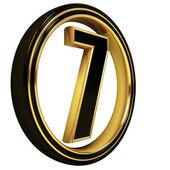 Carta de oro negro fuente siete — Foto de Stock