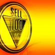 Gold metal one hundred Percent sell - Stock Photo