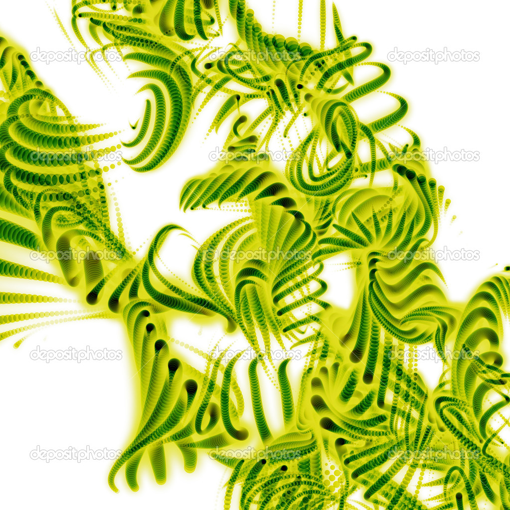 3d rendering, representing a fluorescent - green microscopic detail  Stock Photo #5186169