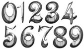 Filmstrip font. Numbers pack — Stock Photo