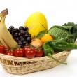 Fruits and vegetables in basket — Stock Photo #4462498