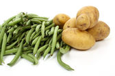 French green beans and potatoes — Stock Photo