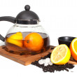 Royalty-Free Stock Photo: Tea and fruit