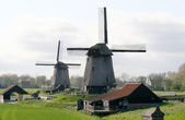 Nederlandse windmolens — Stockfoto