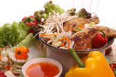 Chinese food, with shallow focus — Stock Photo