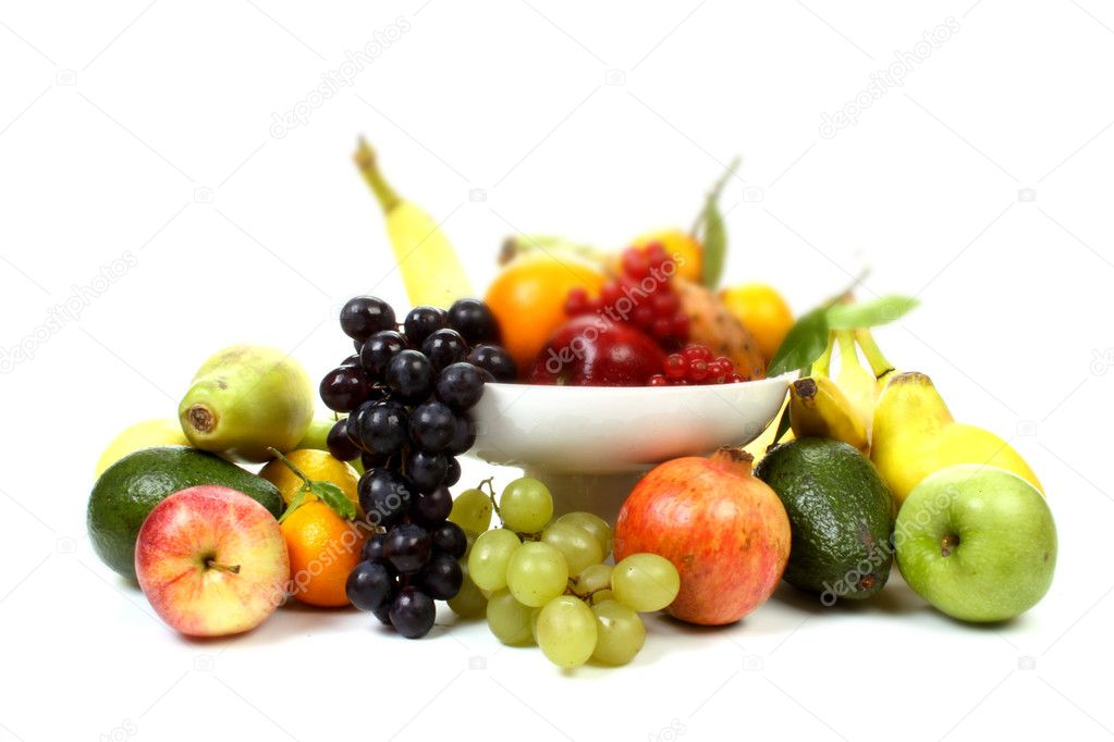 Composition of several fruits on a fruit-dish. — Stock Photo #4976454