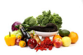 Fruits and vegetables, with shallow focus — Stock Photo