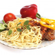 Italian food on a dish - Stock Photo