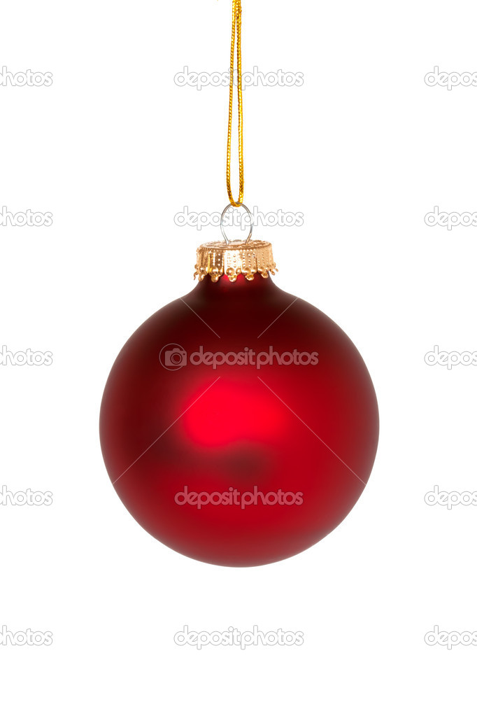 Red christmas ball isolated on the white background — Stock Photo #4466817