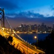 Bay bridge och san francisco — Stockfoto
