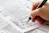 Tax form — Stock Photo
