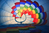 Inside hot air baloon — Stock Photo