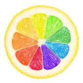 Barevné citron — Stock fotografie