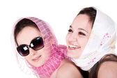 Girlfriends - two young beautiful women — Stock Photo