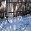 Royalty-Free Stock Photo: Fence and snow