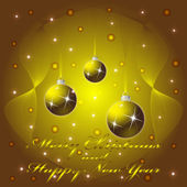 Christmas and New Year greeting Card, vector illustration, eps10 — Stock Vector