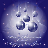 Christmas and New Year greeting Card — Stock Vector