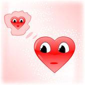 Dois corações — Vetorial Stock