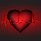 Kalp atışı, vektör çizim, eps10 — Stok Vektör