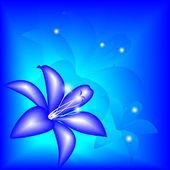 抽象蓝色百合 — 图库矢量图片