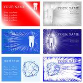 Dental Business Cards, vector illustration, eps10 — Stock Vector