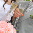 Wedding glasses and champagne — Stock Photo #5087135