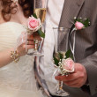 Wedding glasses and champagne — Stock Photo #5087251