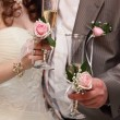 Stock Photo: Wedding glasses and champagne