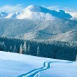 Winter mountain panorama — Stock Photo