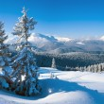 Winter mountain panorama — Stock Photo