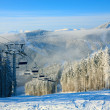 Winter ski lift — Stock Photo
