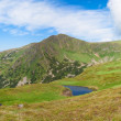 Alpine lake Brebeneckul on summer mountains (panorama) — Stock Photo