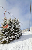 Winter ski ropeway — Stock Photo