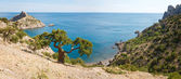 Summer coastline panorama — Stock Photo