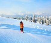 Winter mountain landscape — Photo