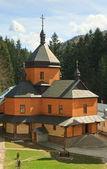 Courtyard of christian orthodox monastery — Stock Photo