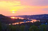 Crimean ancient fortress sunset view (Ukraine) — Stock Photo