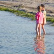 Children on the coast — Stock Photo