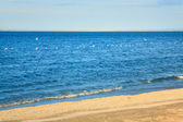 Summer sea sandy coastline — Stockfoto