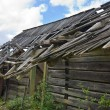 Wooden rotten barn — Stock Photo