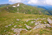 Summer mountain ridge (Ukraine, Carpathian Mountains) — Stock Photo
