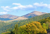 Autumn mountain hill view — Stock Photo