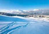 Paisagem de montanha do inverno — Fotografia Stock